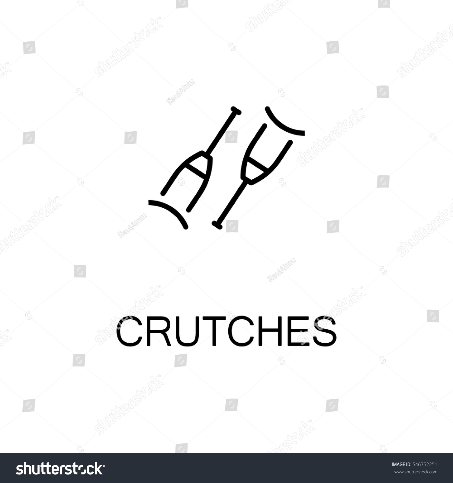 Crutches flat icon high quality outline stock vector 546752251 high quality outline symbol of medical euipment for web design or mobile biocorpaavc