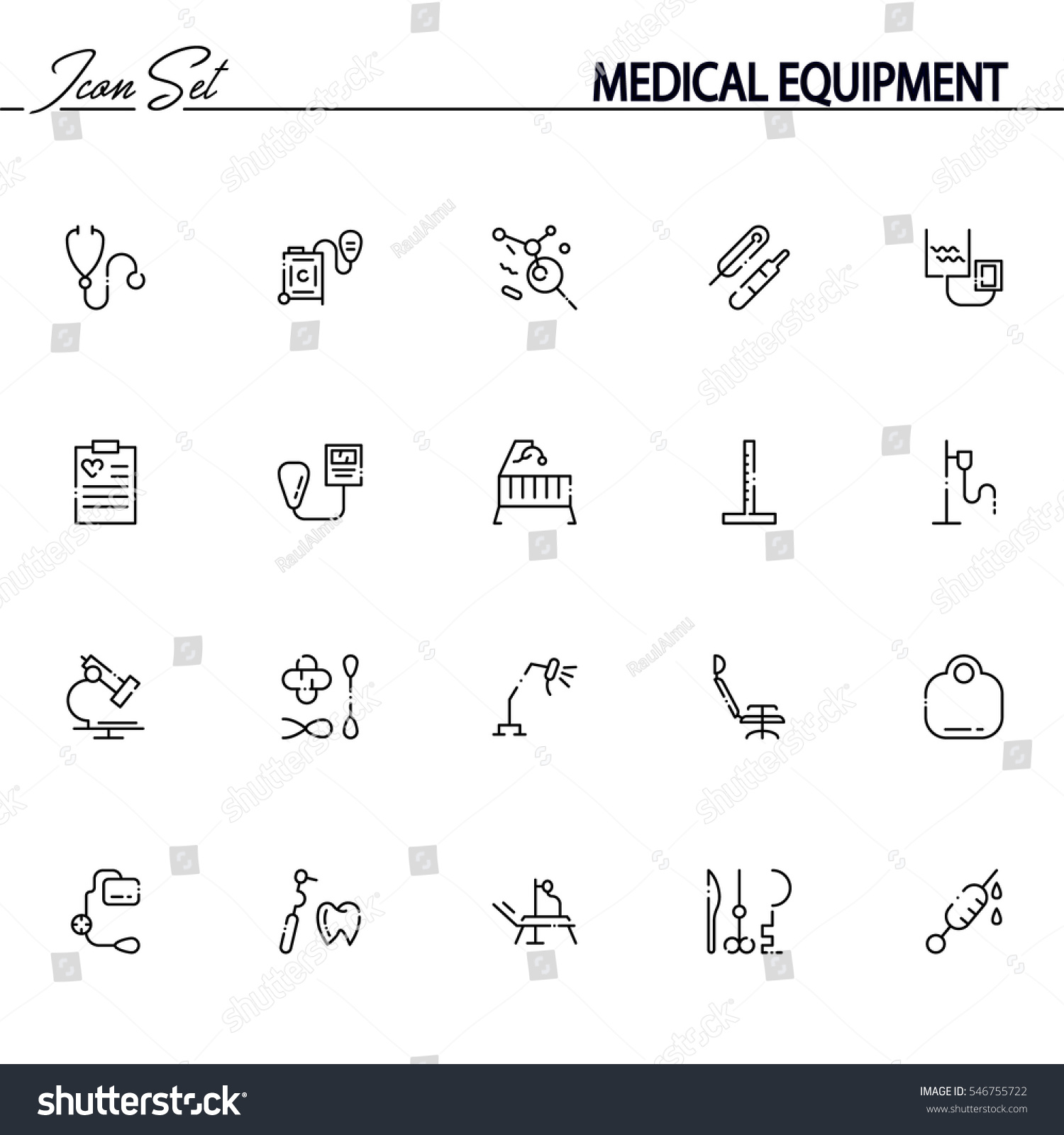 Medical equipment flat icon set collection stock vector 546755722 medical equipment flat icon set collection of high quality outline symbols of medical equipment for biocorpaavc Choice Image