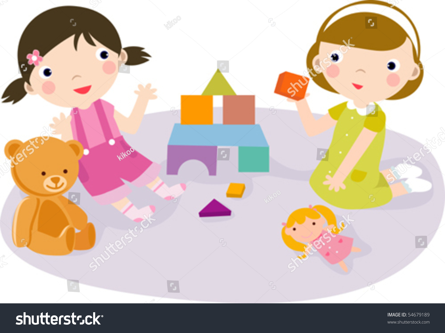 Play Time Stock Vector 54679189 Shutterstock