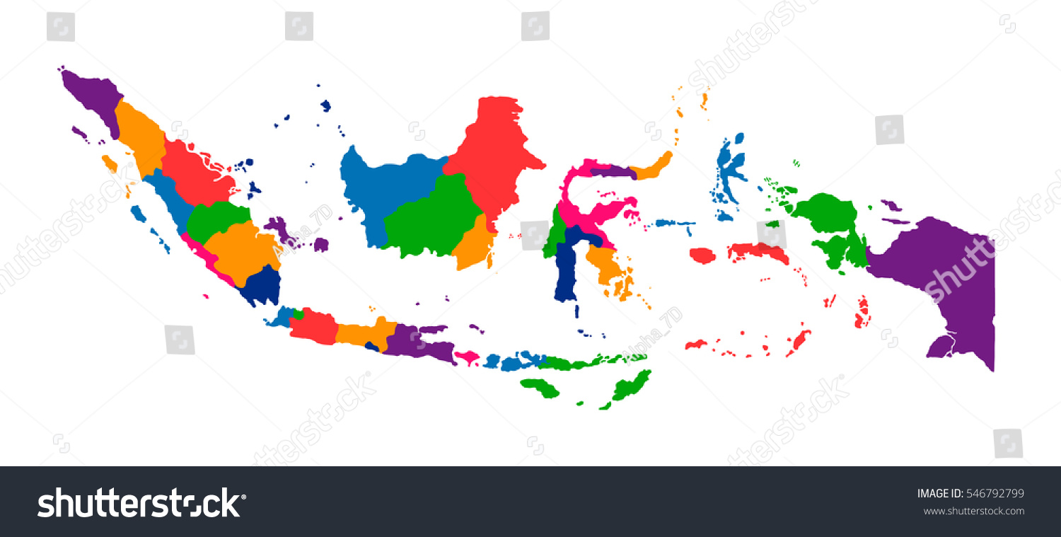 Color of indonesia map indonesia officially the republic of id 546792799 publicscrutiny Choice Image