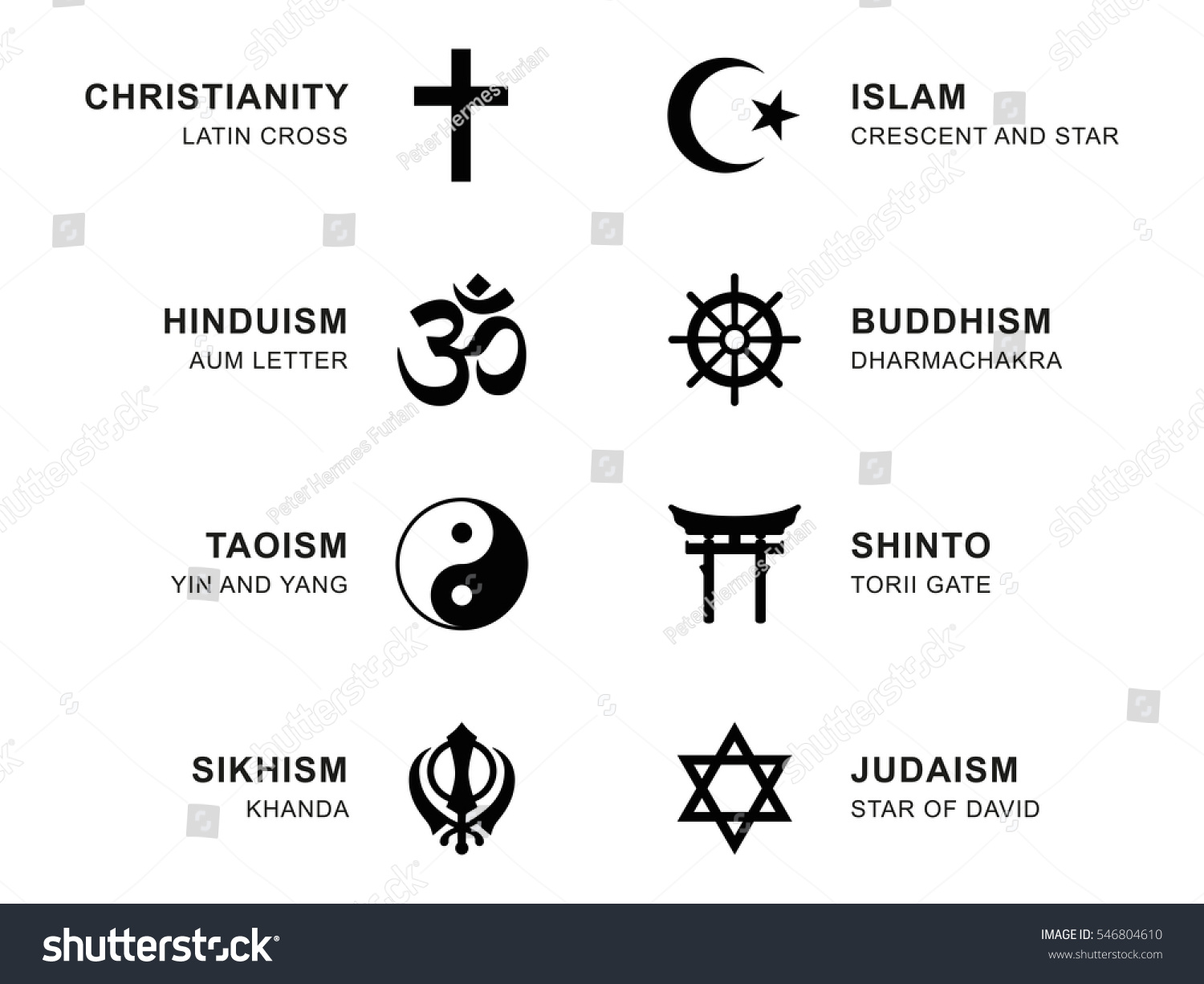 Royalty Free World Religion Symbols Eight Signs Of 546804610