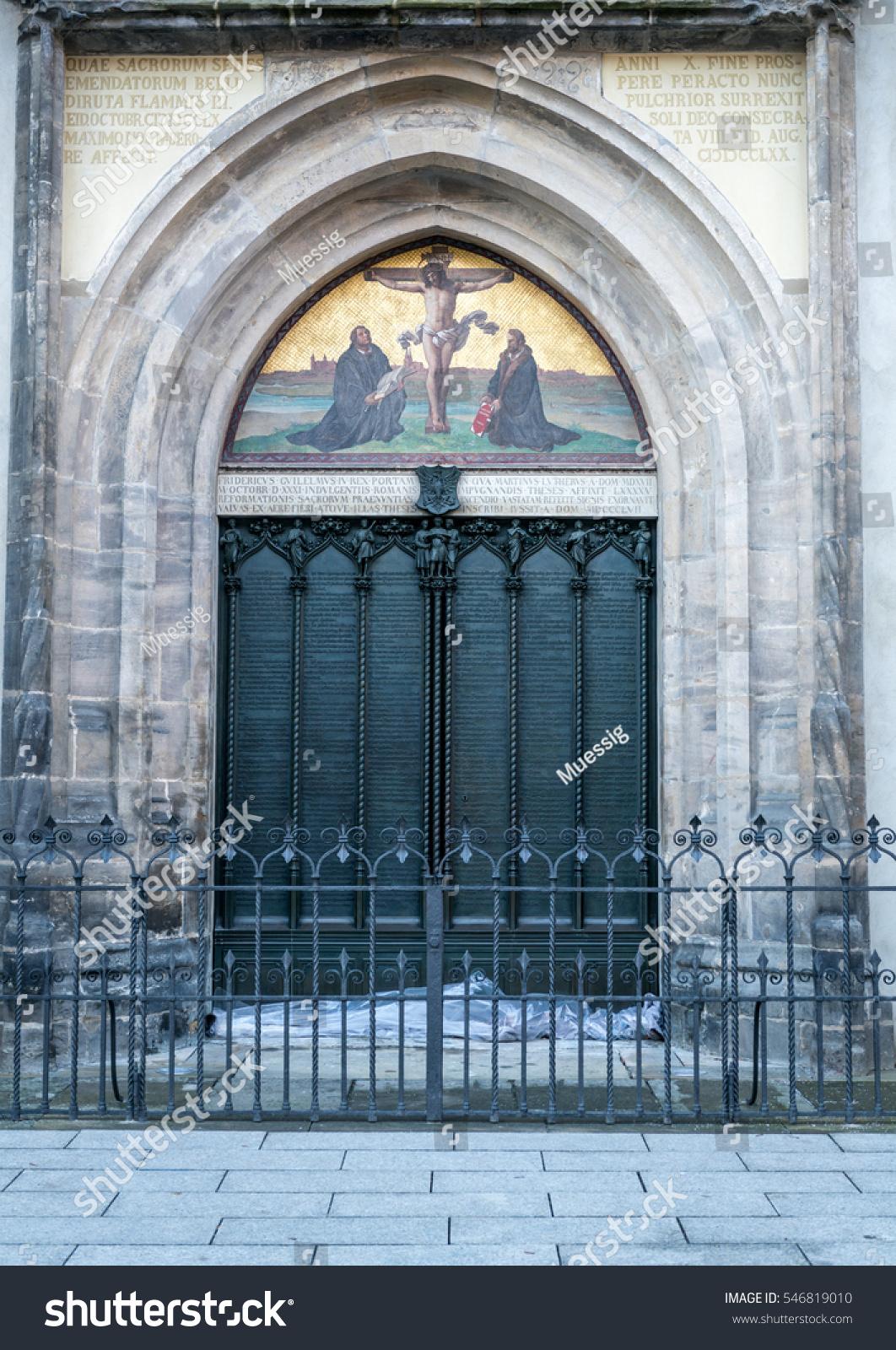 Decorating martin luther church door photos : Wittenberg Famous Door All Saints Church Stock Photo 546819010 ...