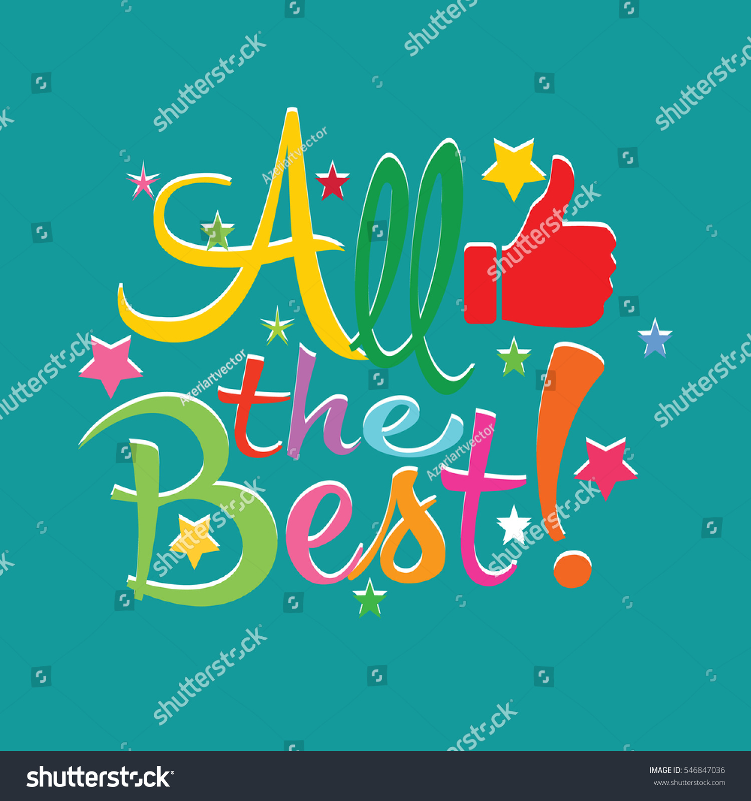 All Best Greeting Card Stock Vector Royalty Free 546847036
