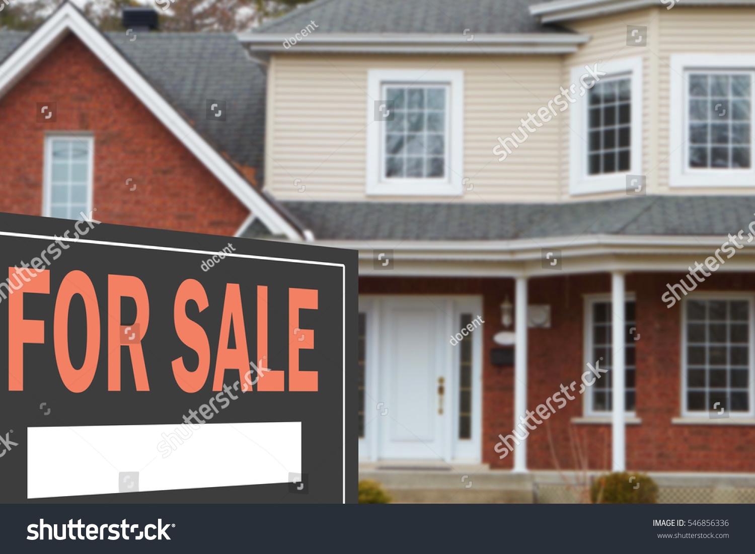 Home for sale. Sign in front of beautiful new home #546856336