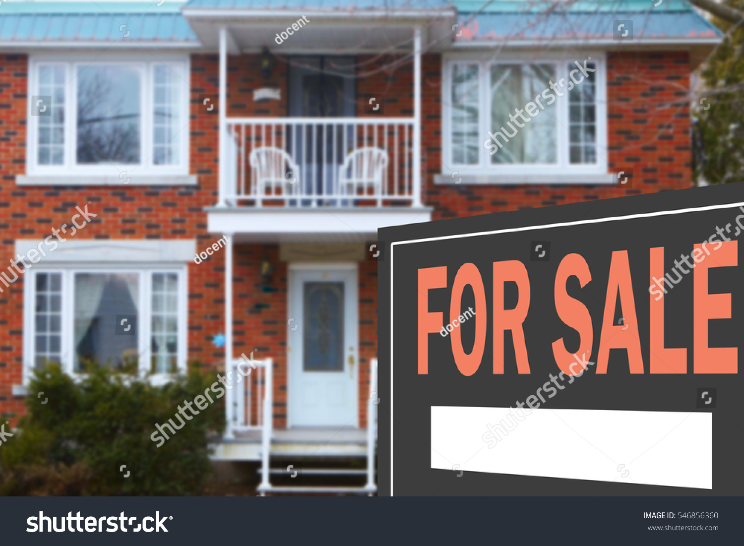 Home for sale. Sign in front of beautiful new home #546856360