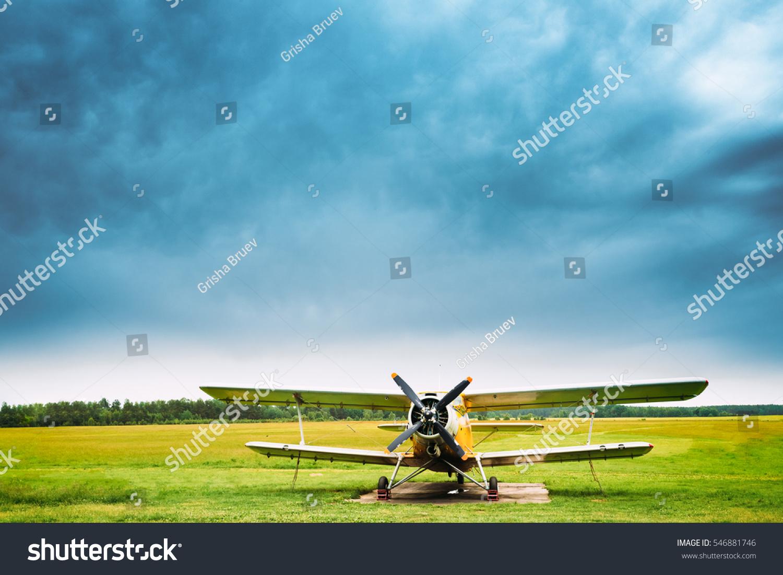 Old Soviet Plane Aircraft Aeroplane Airplane Stock Photo