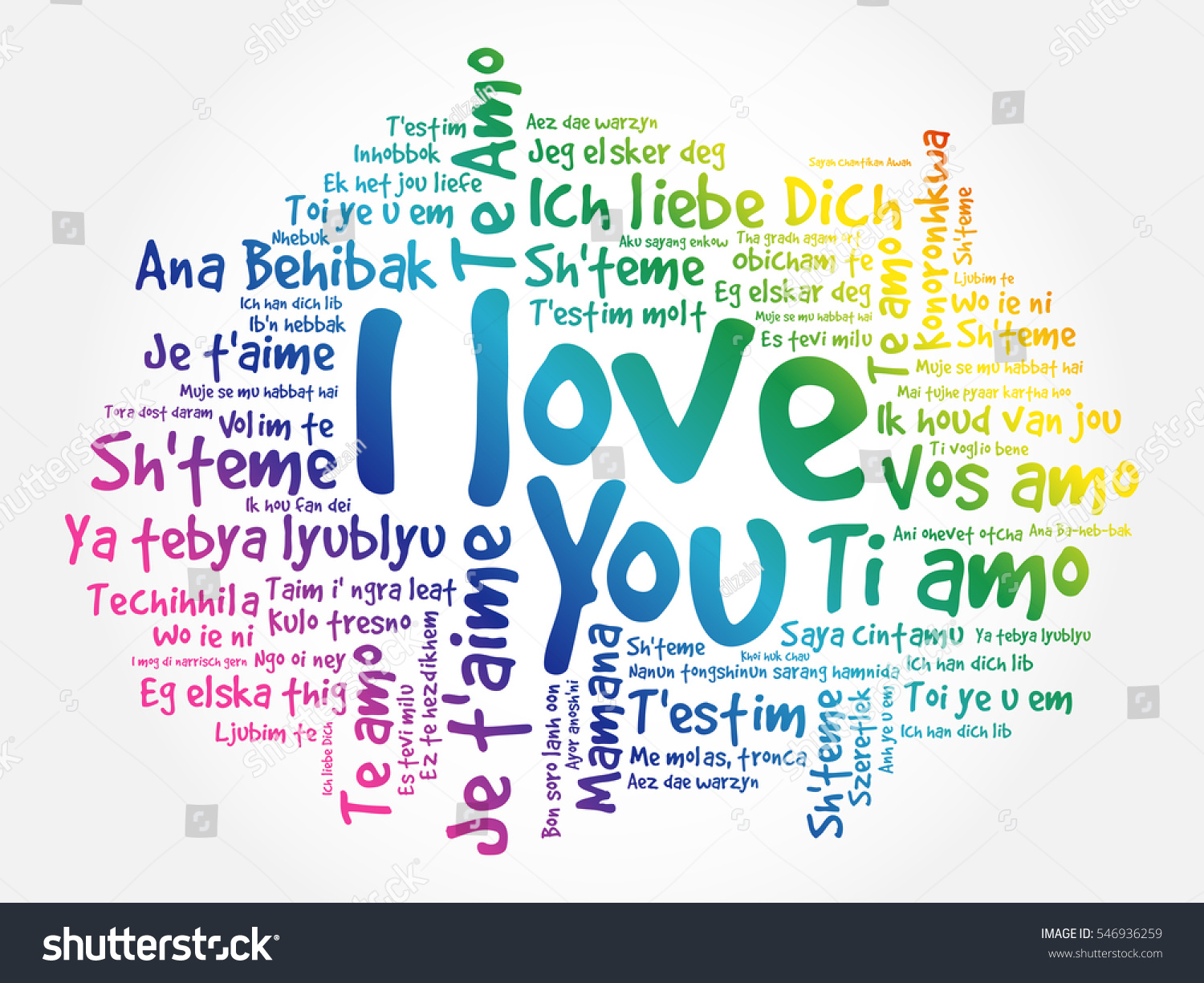 Royaltyfree Love Words I Love You In All Stock - All languages in the world