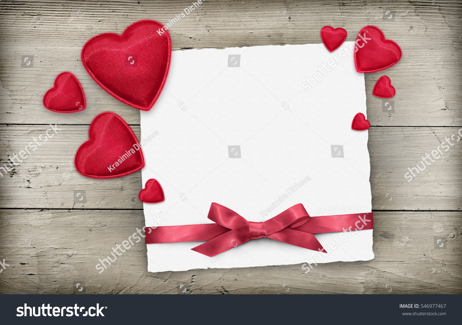 Valentines Day Empty Greeting Card Red Stock Photo Edit Now