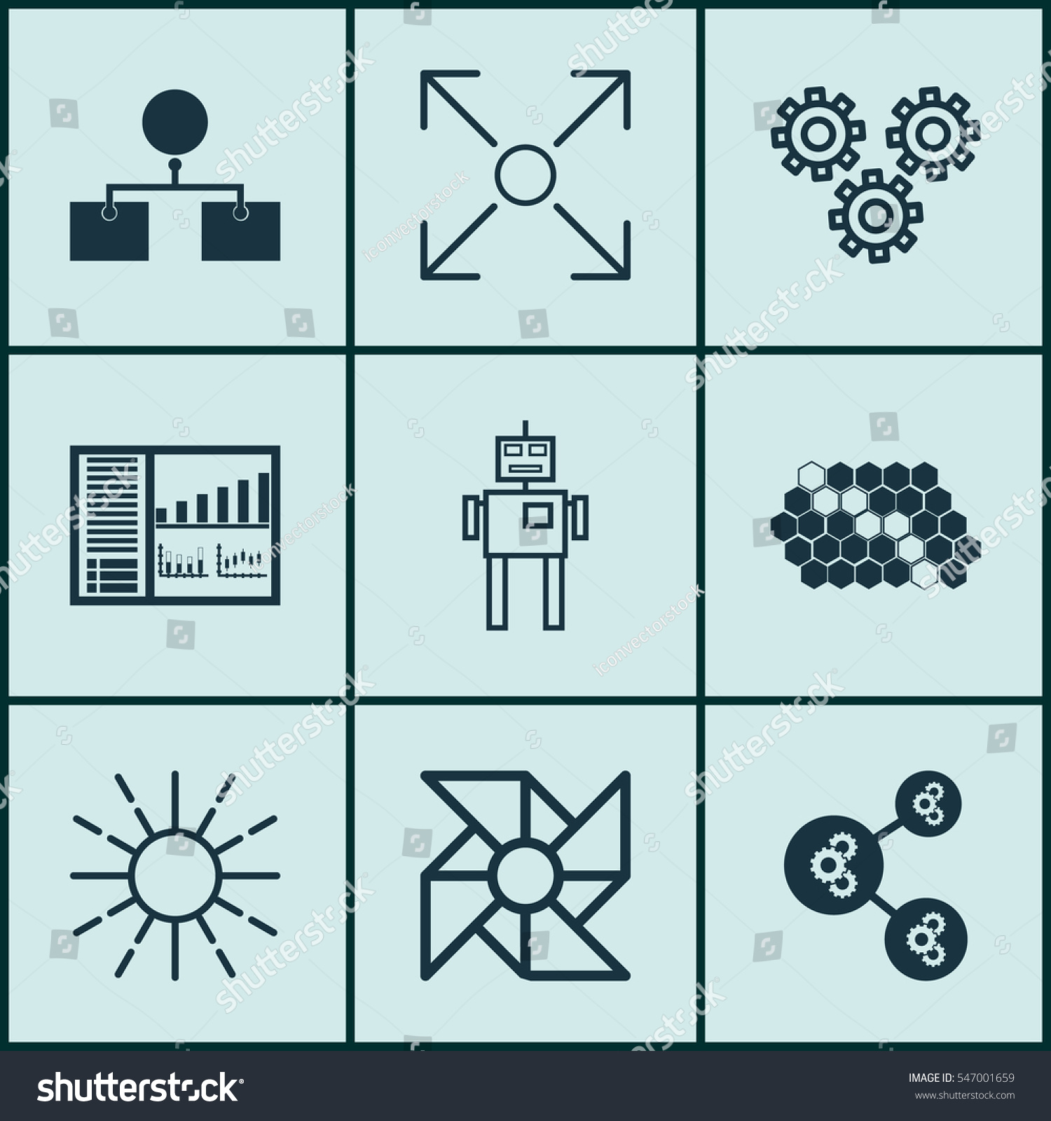 Set 9 Artificial Intelligence Icons Includes Stock Illustration ...