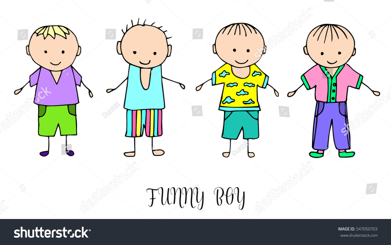 set children drawing boys template painting stock vector 547050703