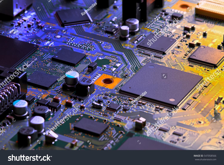 Electronic Computer Circuit Board Stock Photo Image 205460