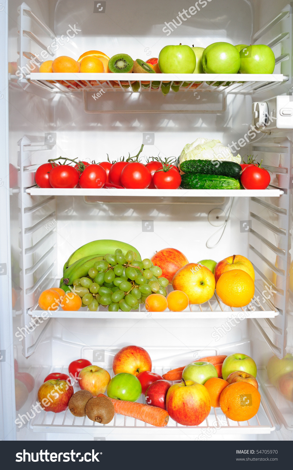 Refrigerator Full Fruit Vegetables Stock Photo Edit Now 54705970