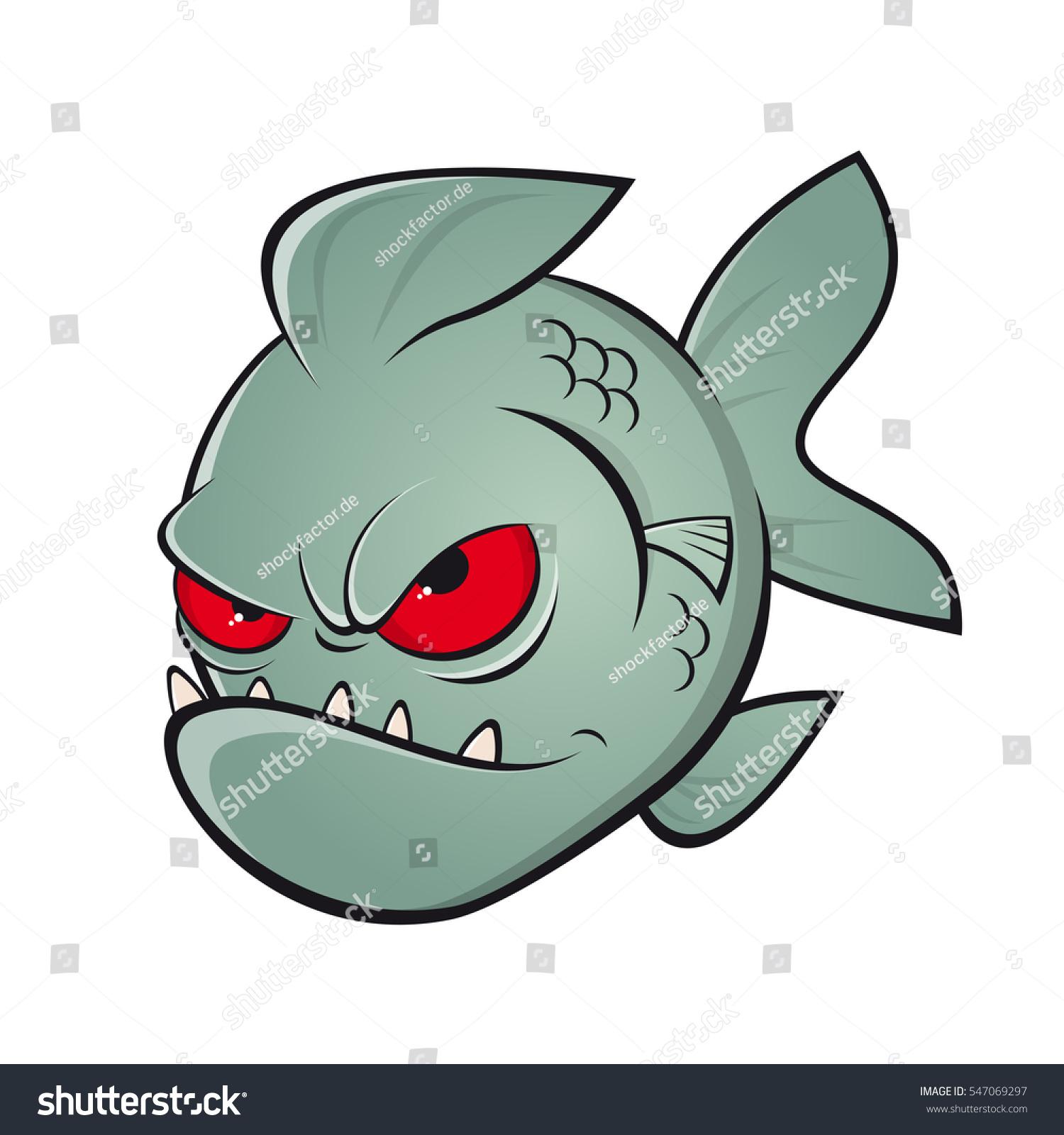 Angry Piranha Clipart Vector de stock (libre de regalías)547069297 ...