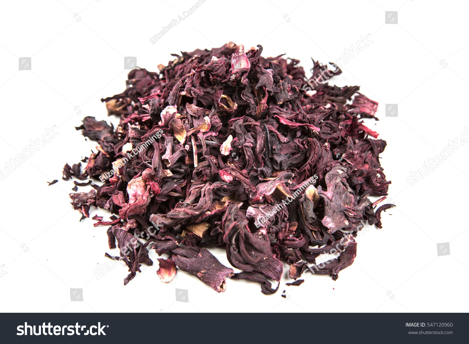 Dried Hibiscus Flower Petals Isolated On Stock Photo Edit Now