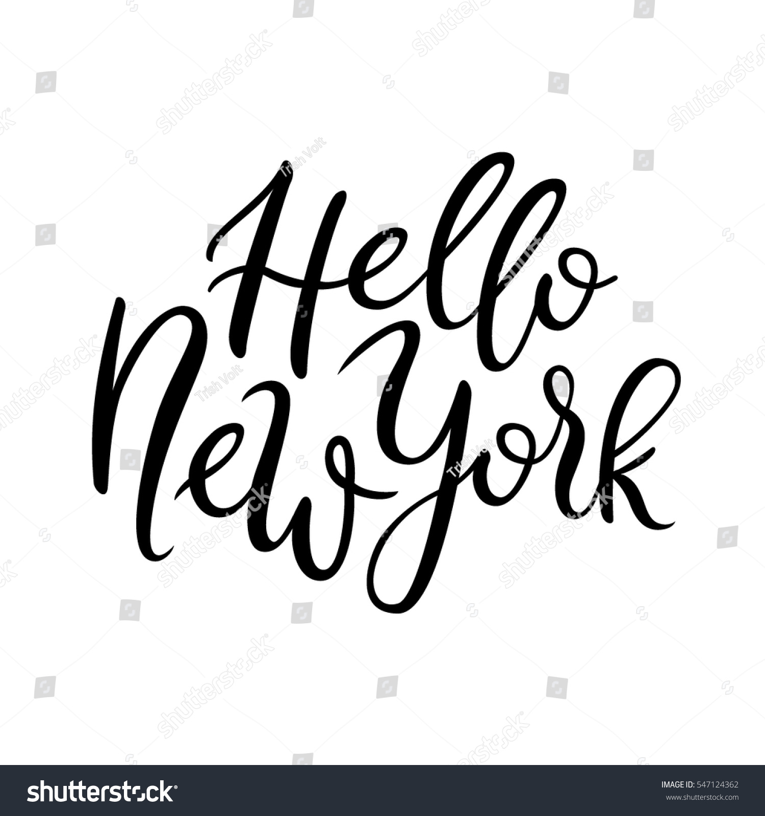 Hello new york quote simple composition stock vector