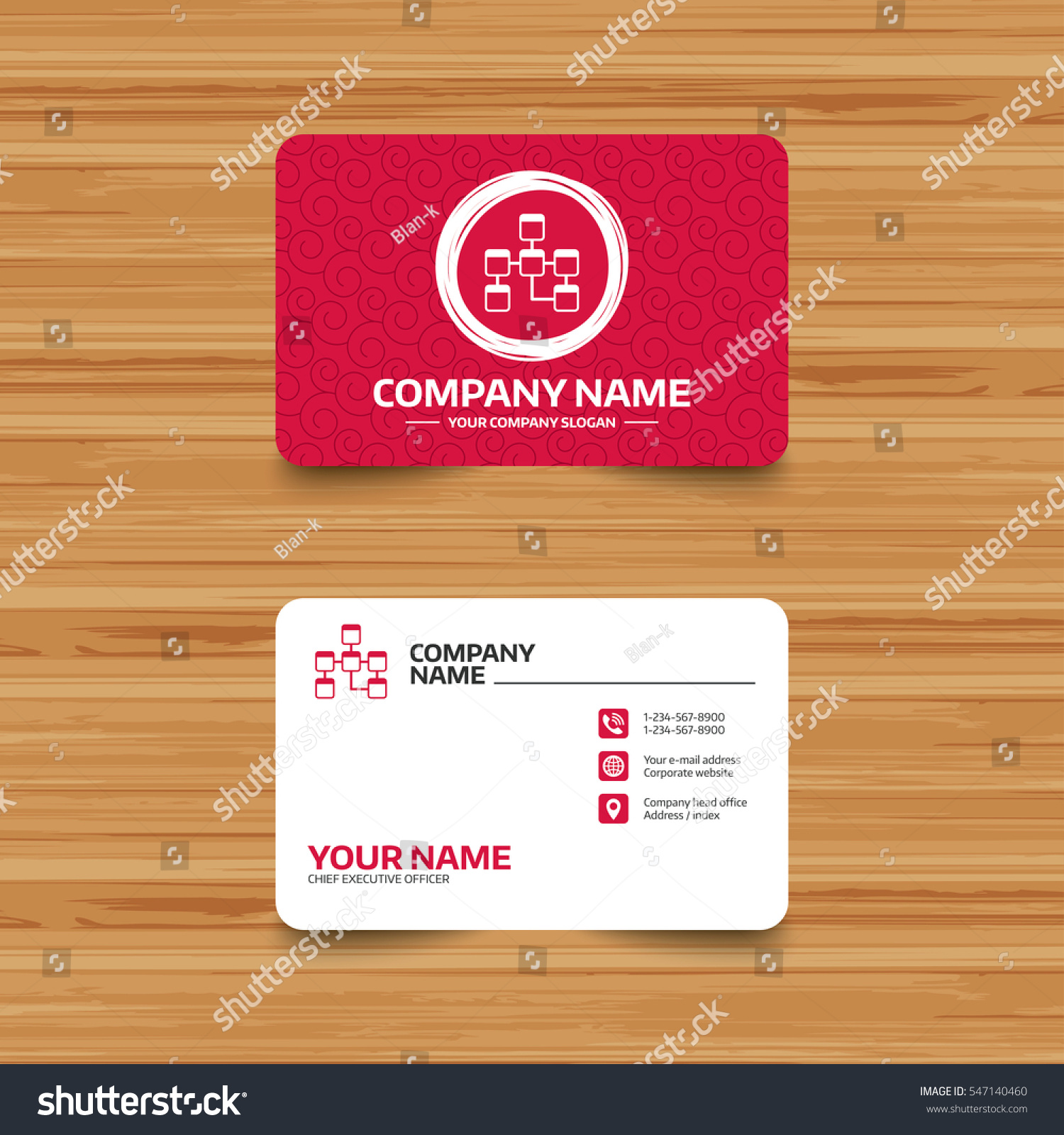 Business card template texture database sign stock vector business card template with texture database sign icon relational database schema symbol phone magicingreecefo Choice Image