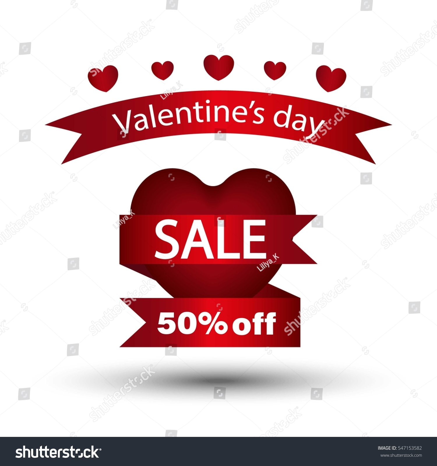 Happy Valentines Day Flyer Template Creating Stock Vector 547153582 ...