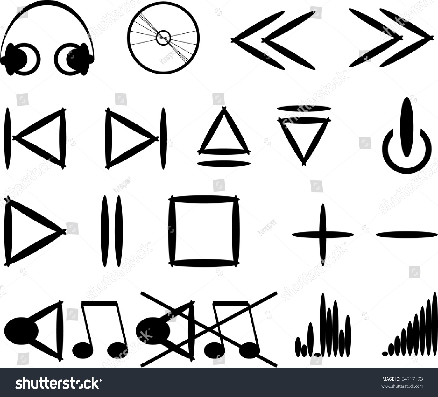Vector music symbols icons stock vector 54717193 shutterstock vector music symbols and icons buycottarizona Gallery