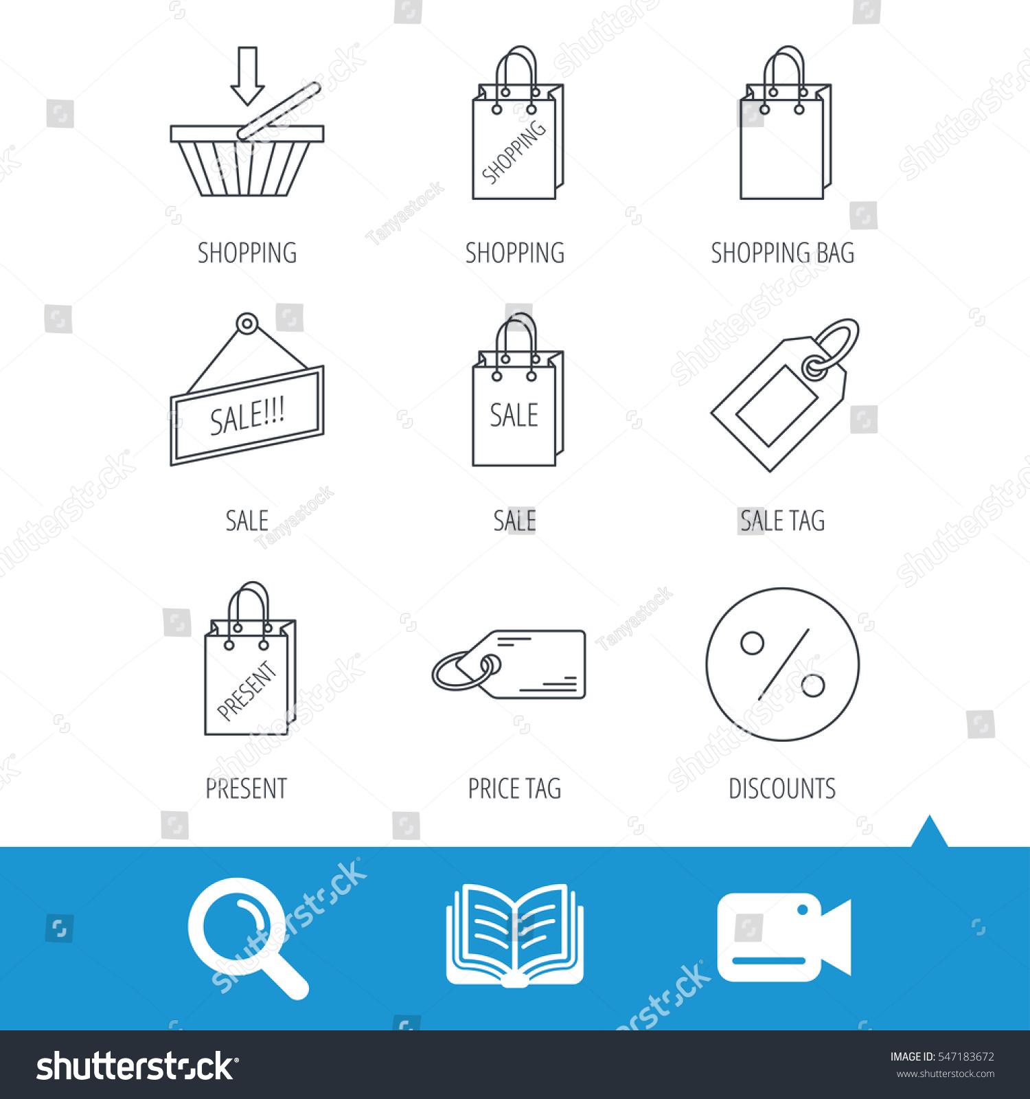 Shopping Cart Gift Bag Sale Coupon Stock Vector 547183672 ...