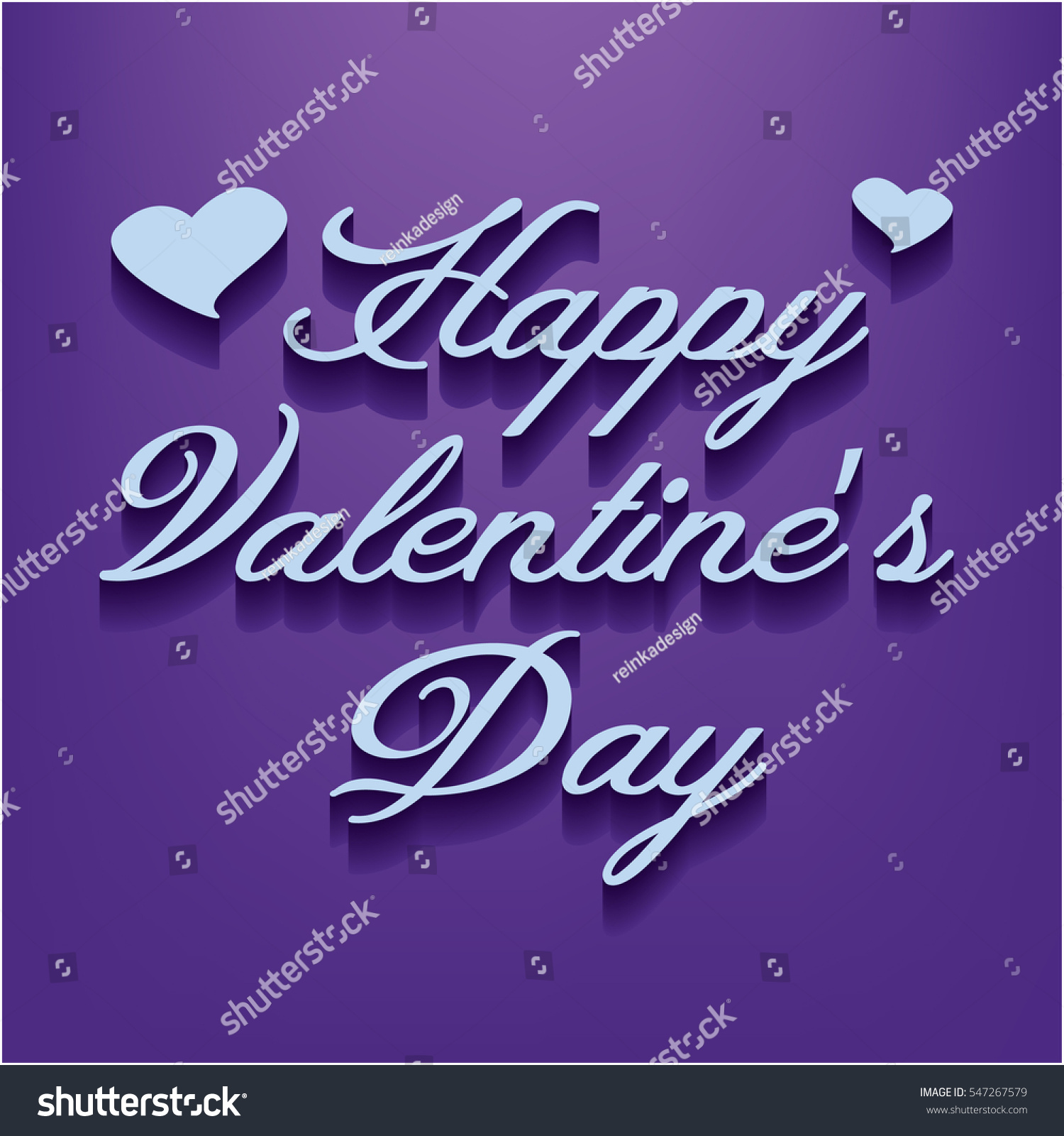 Happy Valentines Day Lettering Design Background Stock