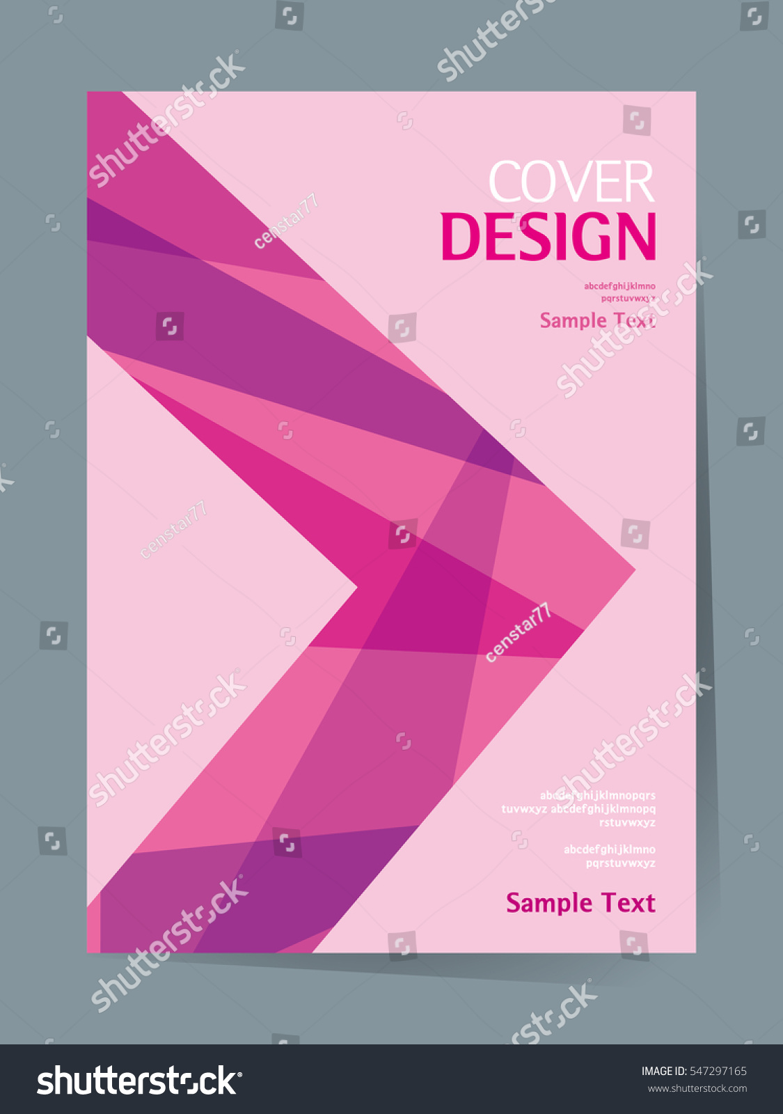 Book cover design vector template a4 stock vector for Design a book jacket template