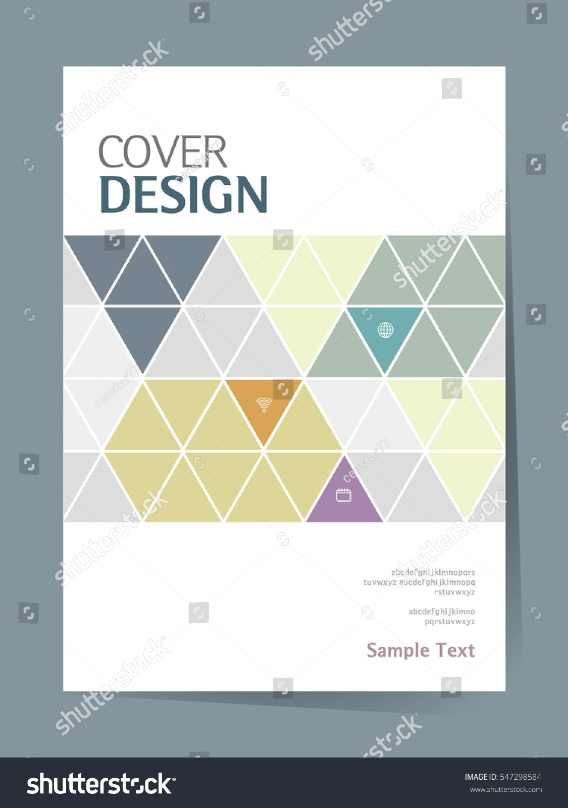 Poetry Book Cover Vector : Book cover design vector template a stock