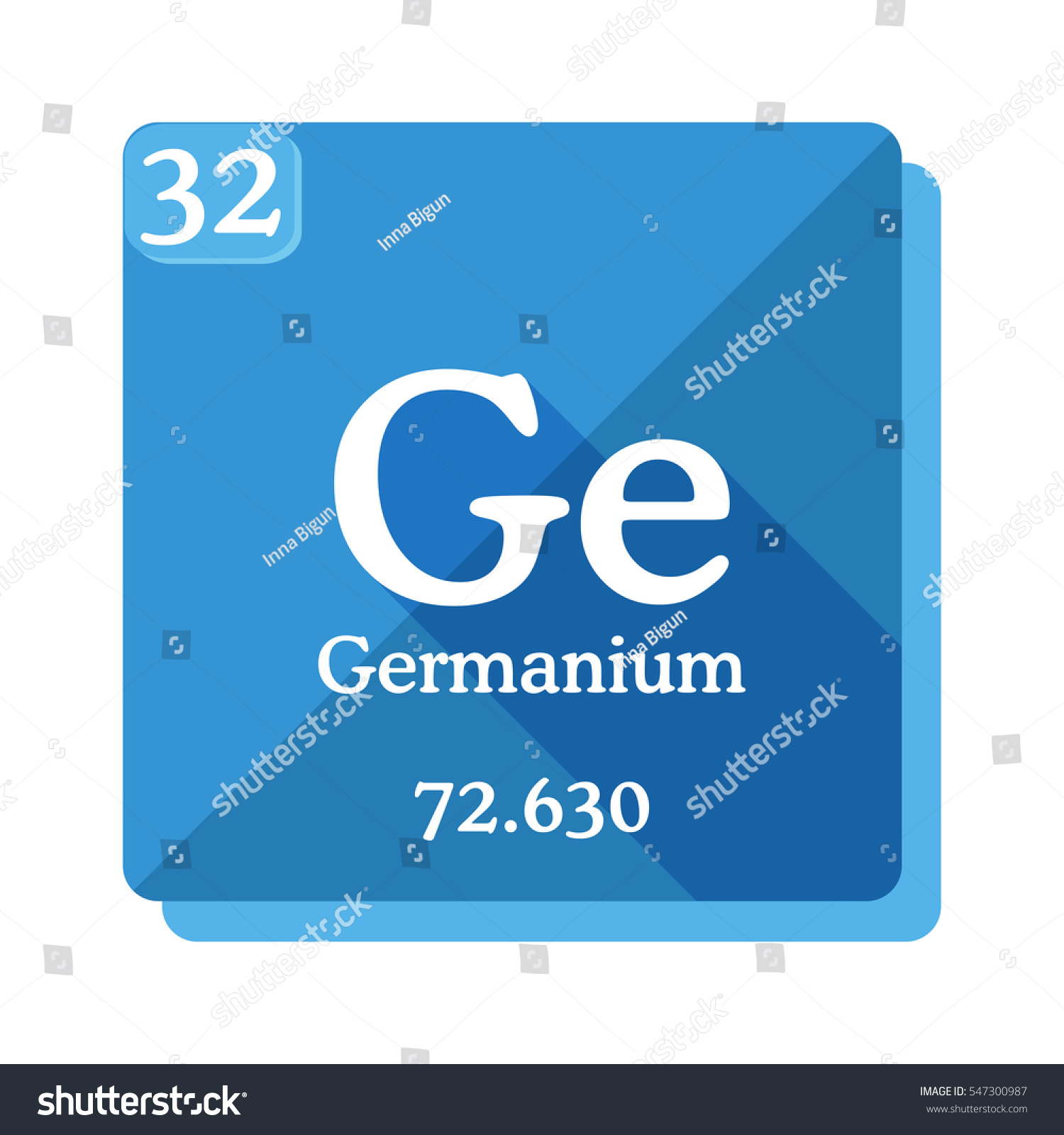 Germanium ge element periodic table flat stock vector 547300987 germanium ge element of the periodic table flat icon with long shadow gamestrikefo Image collections