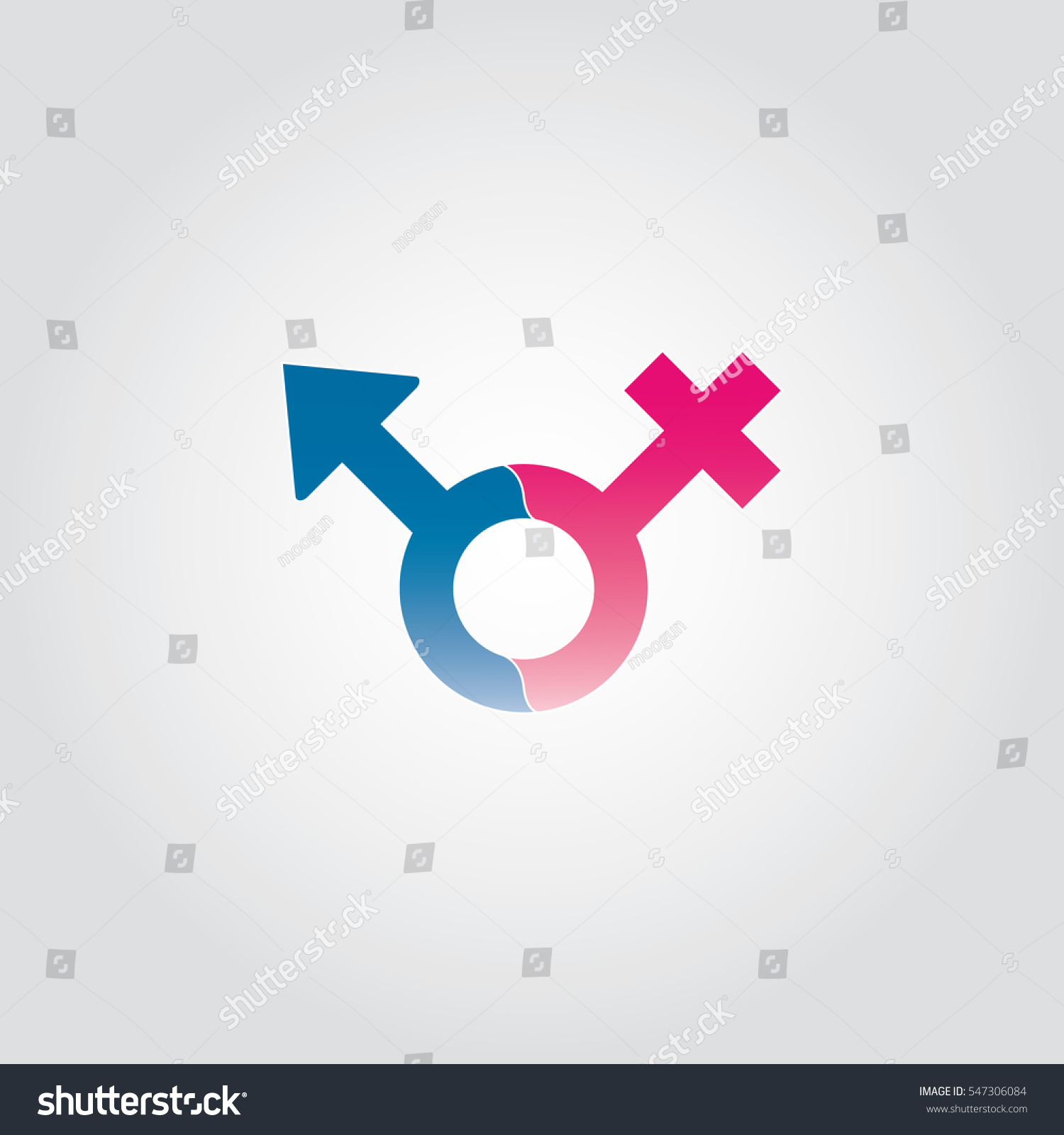 Female Male Symbol Combination Stock Vector Royalty Free 547306084