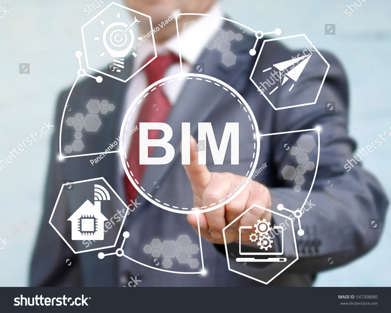 BIM building information modeling business industrial development physical web concept. Build, house, real estate, construction, architecture technology #547308880