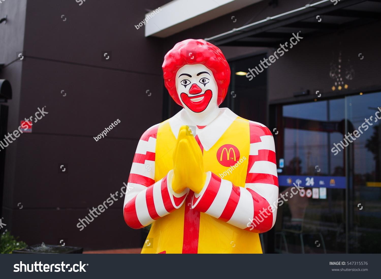 Ronald Mc Donald Mascot Greeting Thai Culture Stock Photo Edit Now