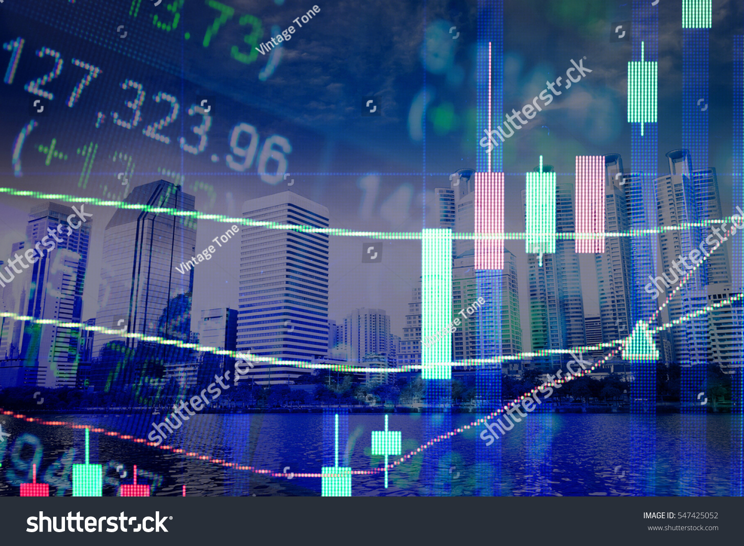 Stock Market Chart Business Graph Background Stock Photo