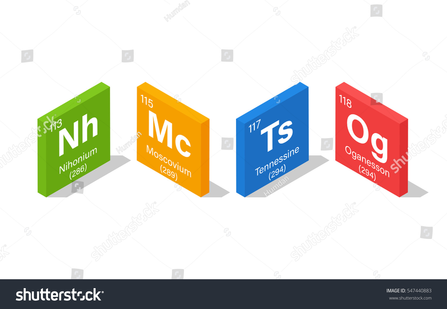 2016 new elements periodic table nihonium stock vector 547440883 2016 new elements in the periodic table nihonium moscovium tennessine and oganesson gamestrikefo Image collections