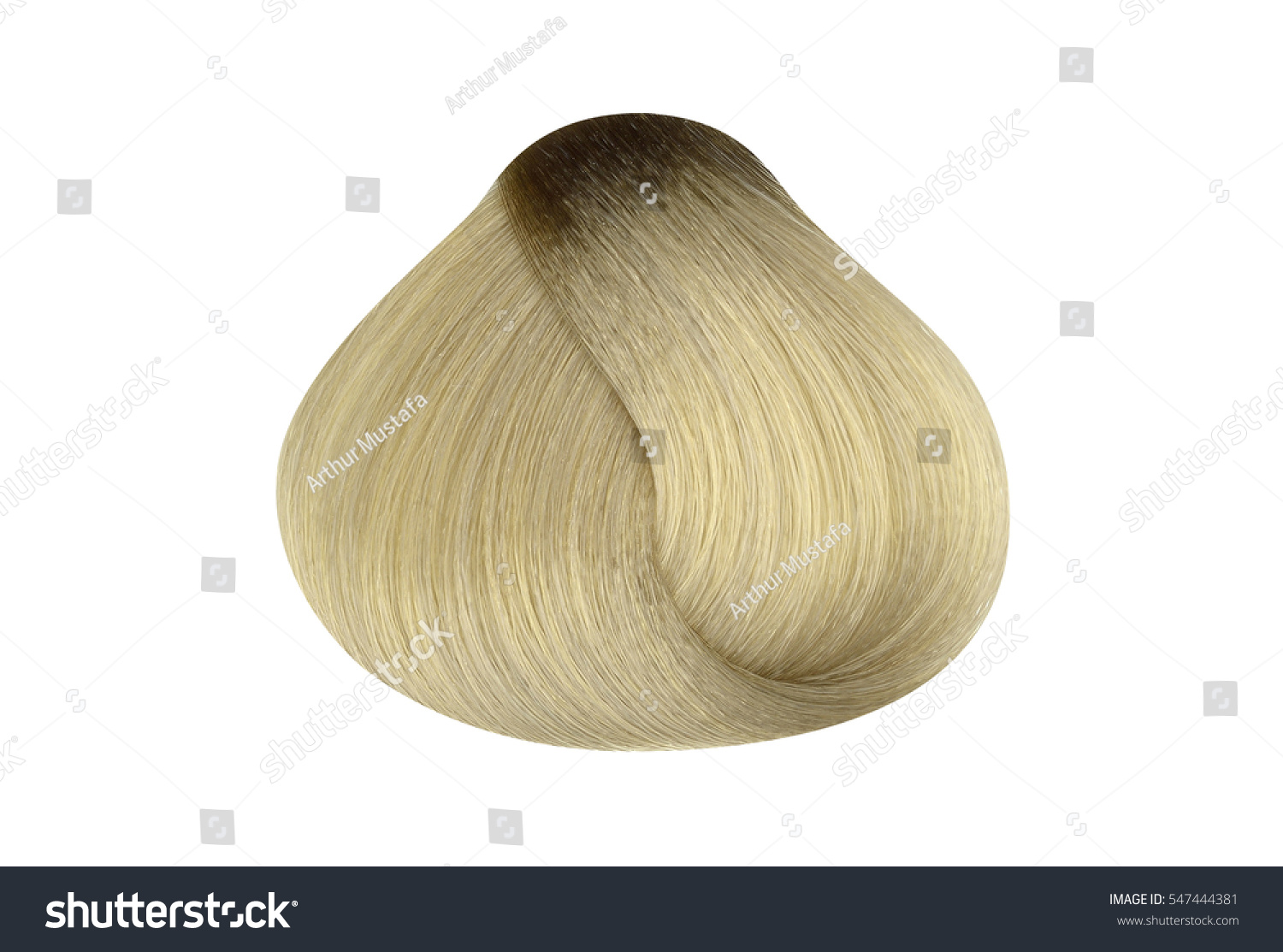 Lock Very Light Blonde Hair Color Stock Photo Royalty Free
