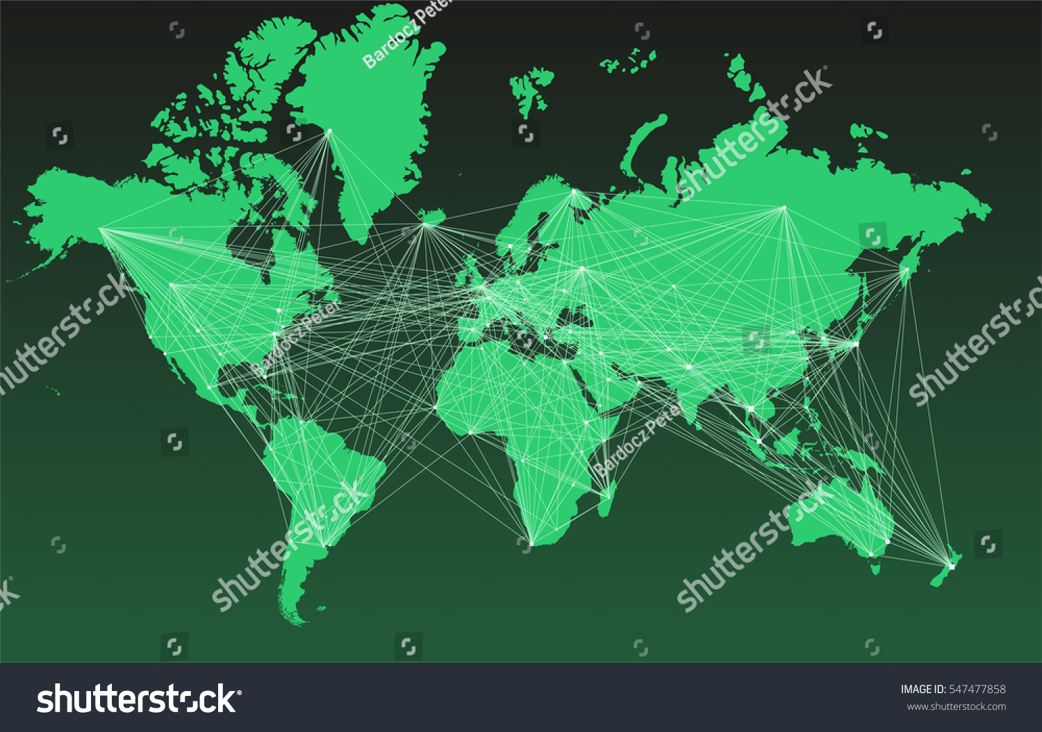 World map without cities picture ideas references world map without cities world map with big cities connected by lines gumiabroncs Choice Image