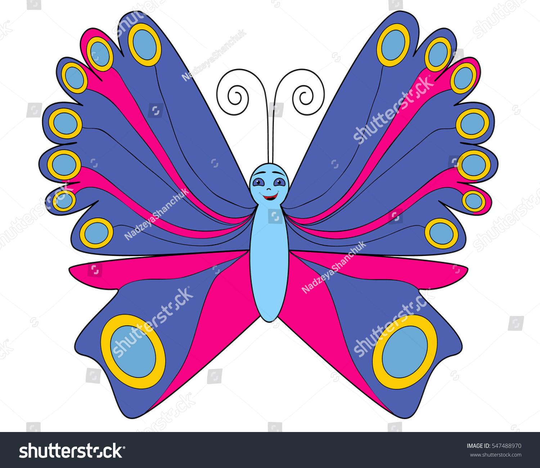 vector butterfly cartoon stock vector 547488970 shutterstock