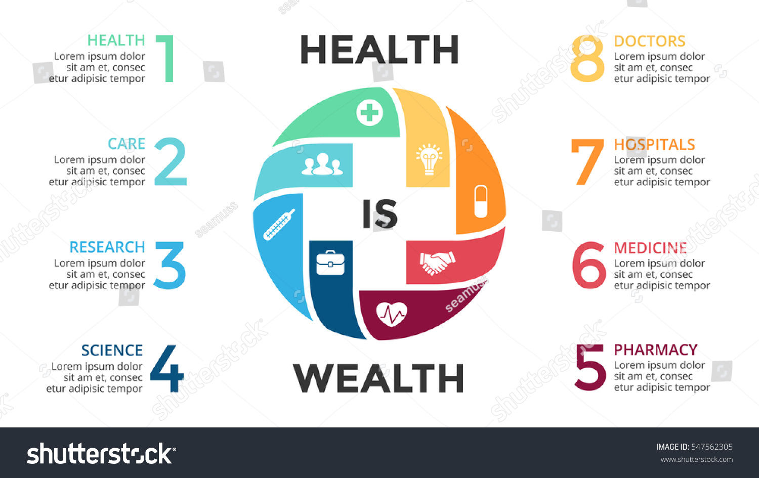 vector plus sign infographic medical diagram stock vector royalty