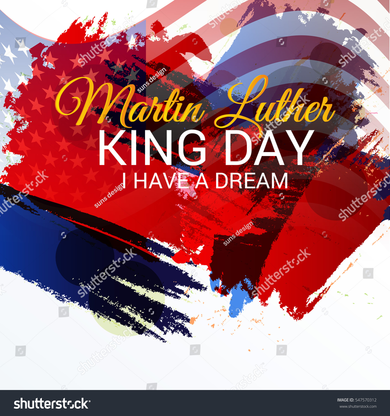 Vector Illustration Banner Poster Martin Luther Stock ...
