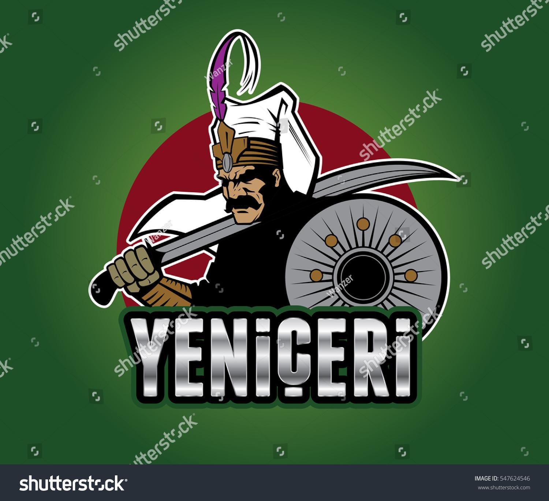 Ottoman Warrior Janissary Stock Vektorgrafik Lizenzfrei
