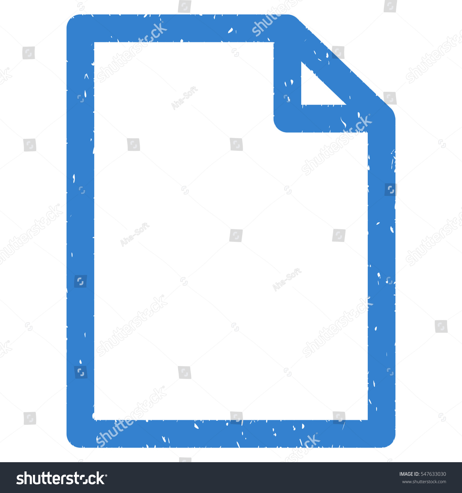 Empty page grainy textured icon overlay stock vector 547633030 empty page grainy textured icon for overlay watermark stamps flat symbol with dirty texture biocorpaavc Choice Image