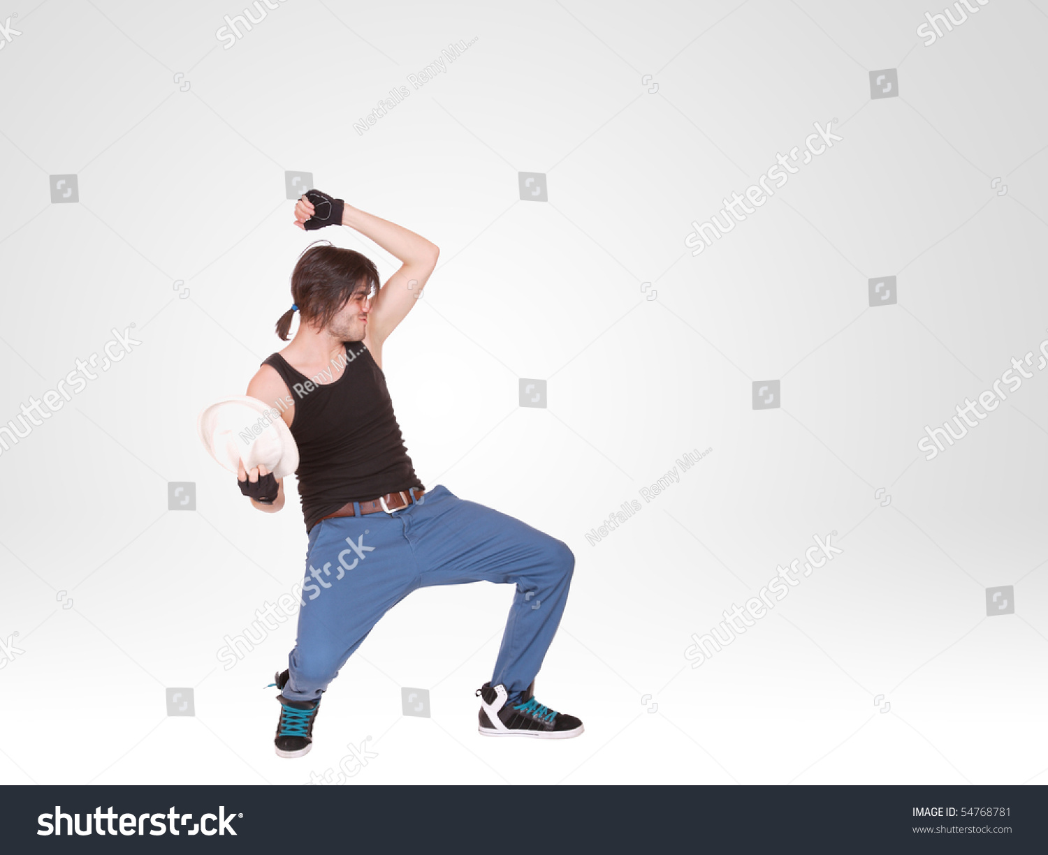 Stylish Cool Style Dancer Posing Stock Photo 54768781 ...