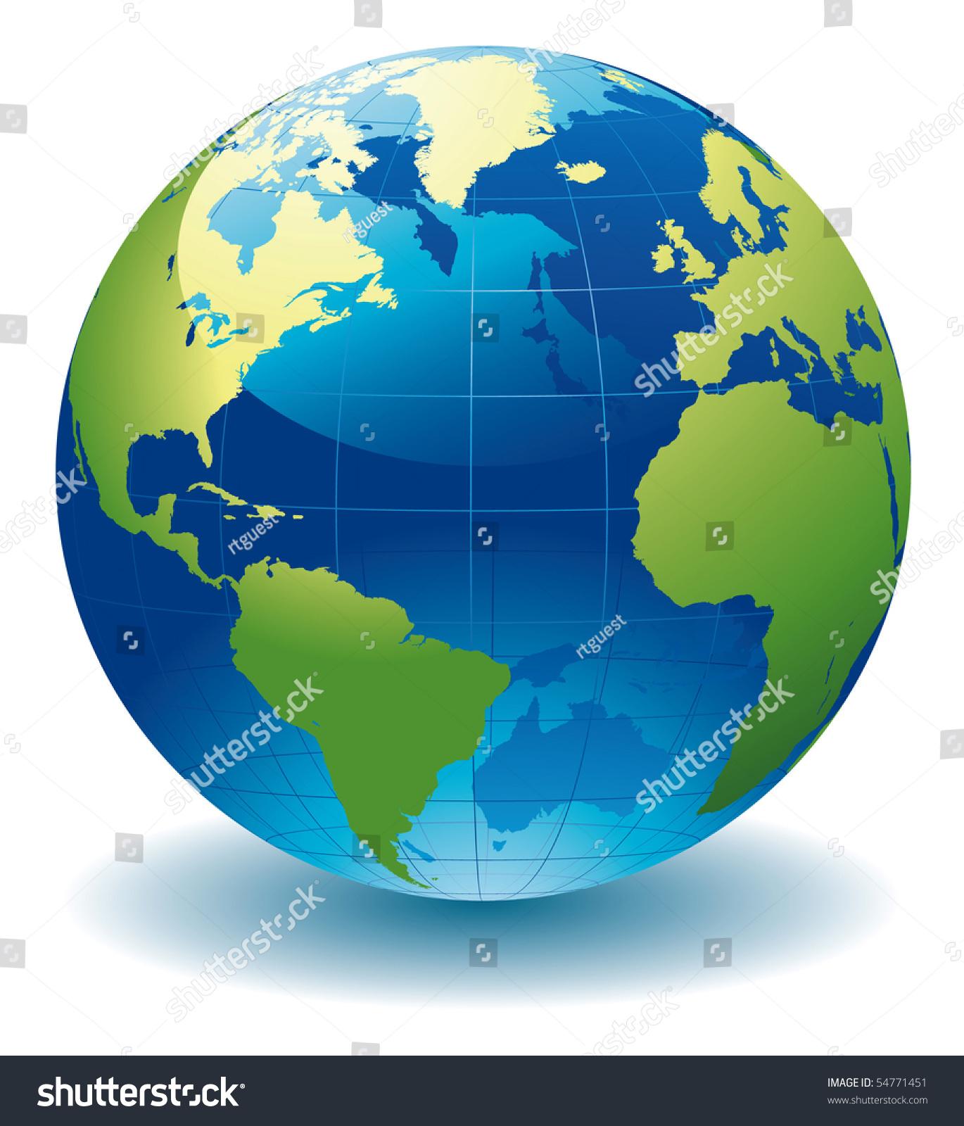 Http Www Shutterstock Com Pic 54771451 Stock Vector World Globe Editable Vector Illustration Html