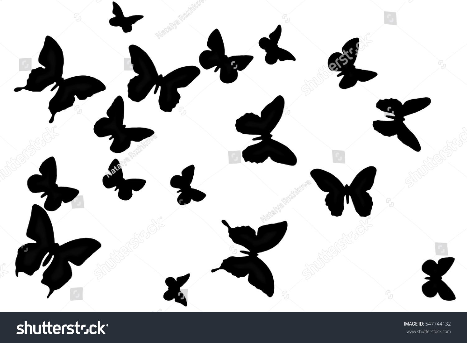 black butterfly on white background texture stock illustration