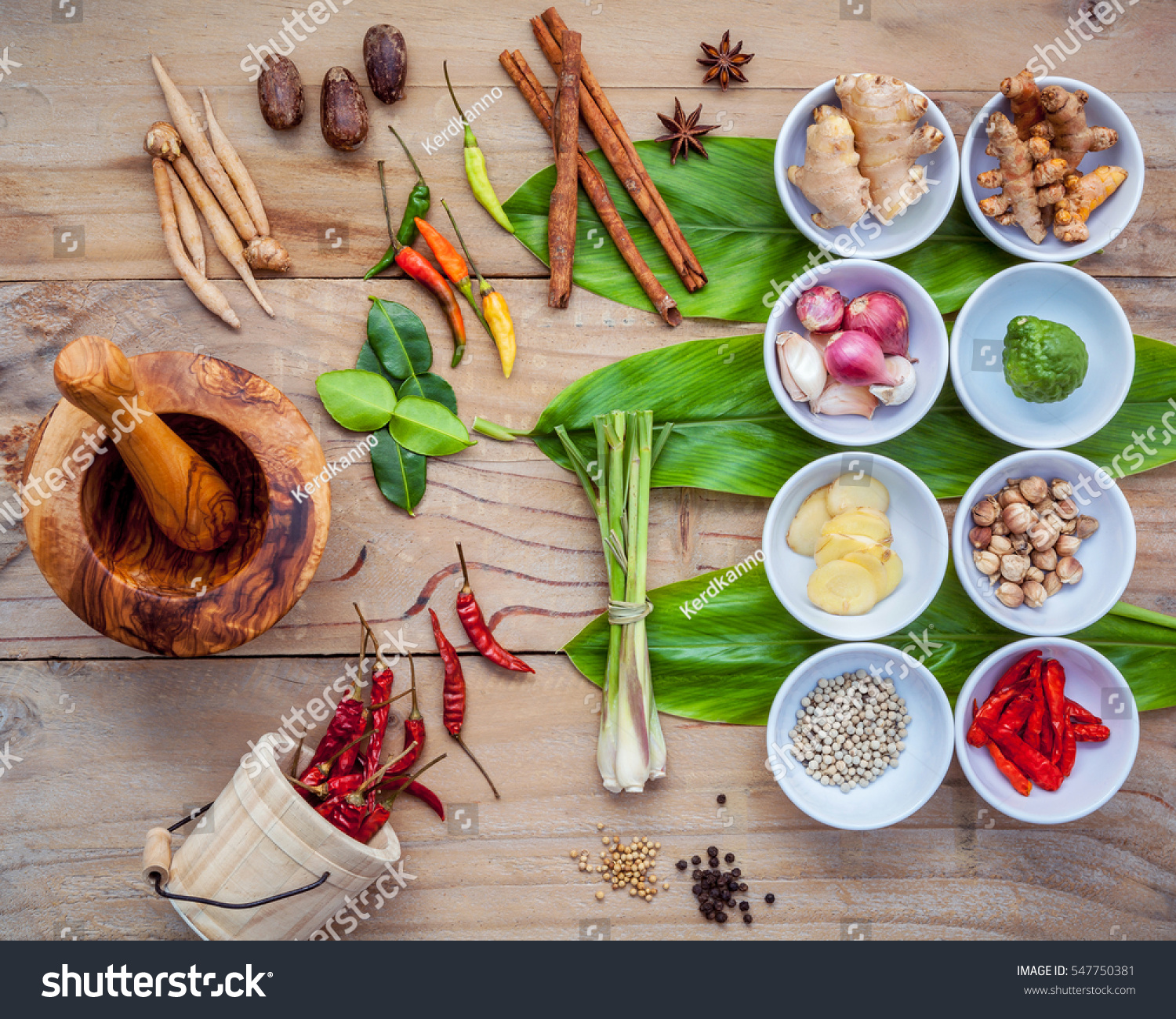 Various thai food cooking ingredients spice stock photo for 8 spices thai cuisine