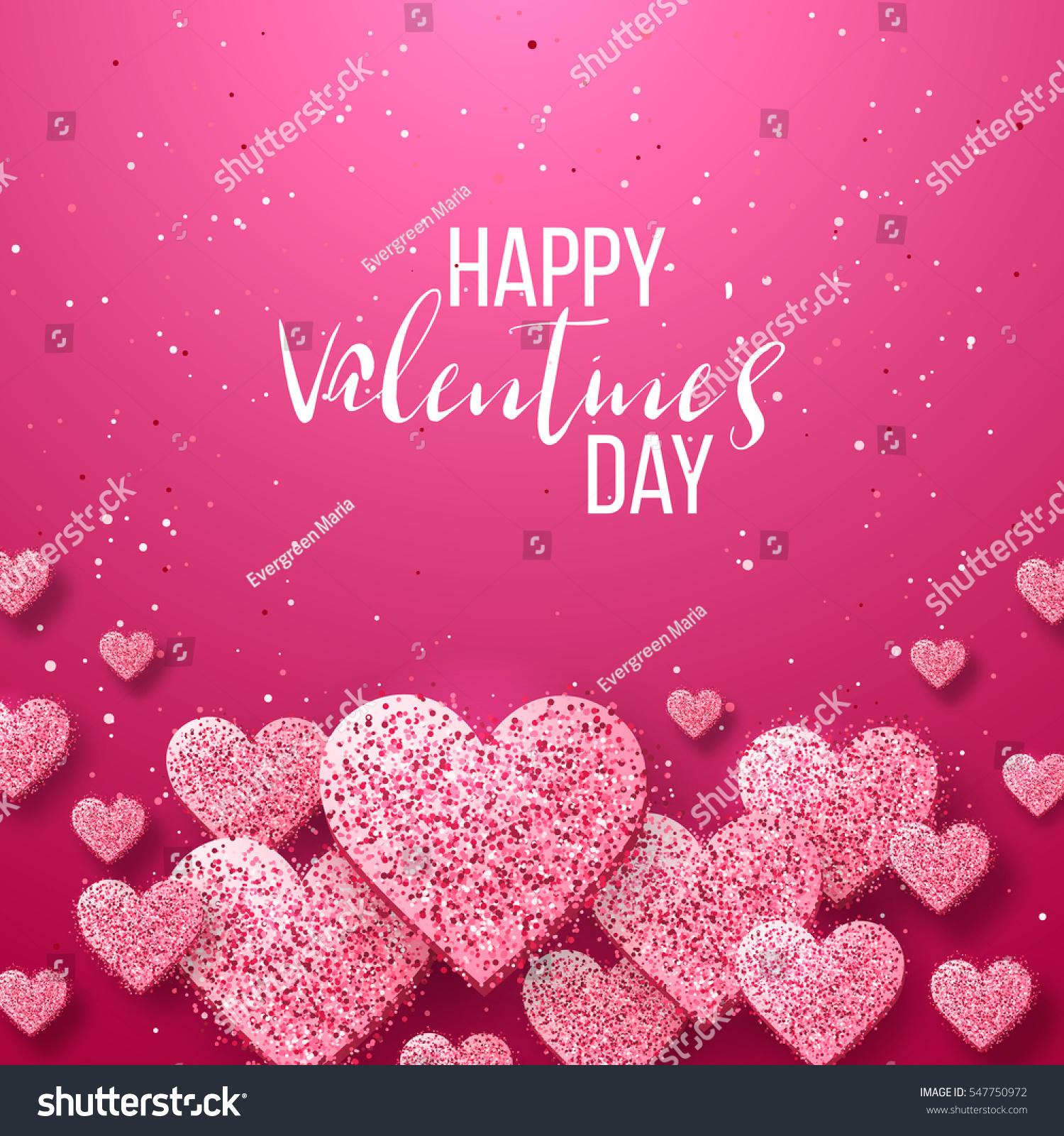Luxury Elegant Happy Valentine Day Festive Stock-Vektorgrafik ...