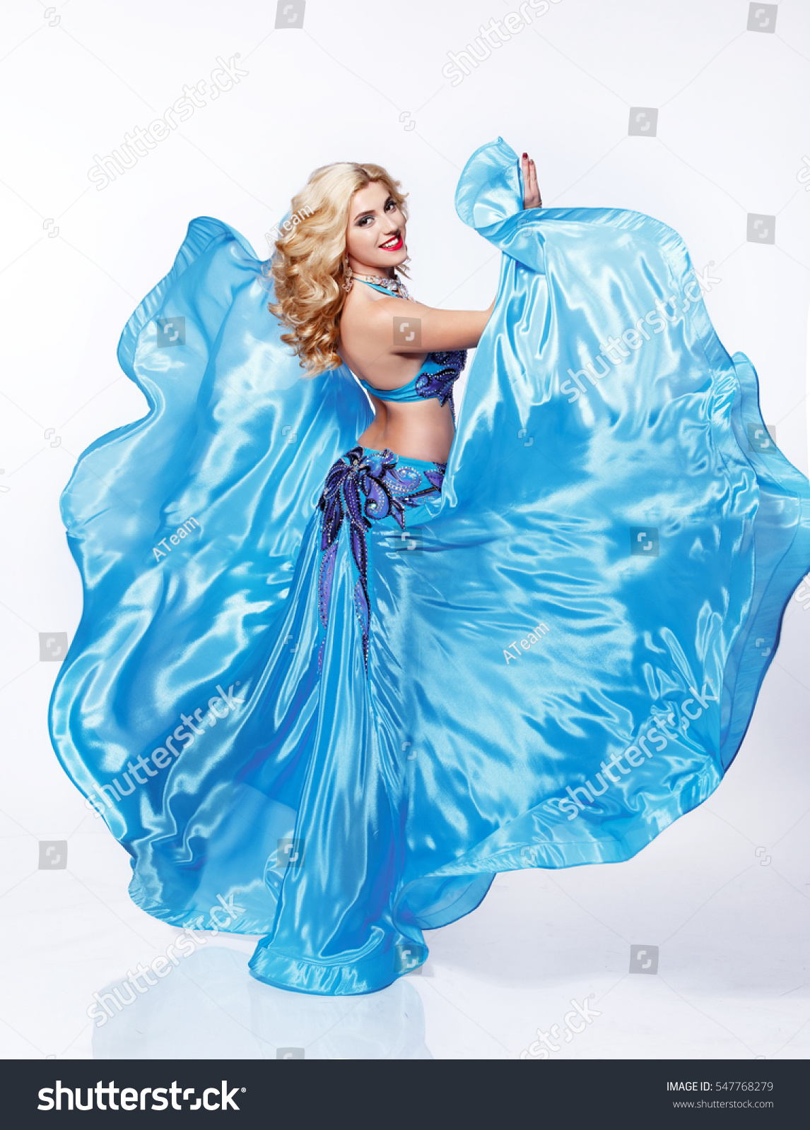 beautiful arabic belly dancer harem woman stock photo & image
