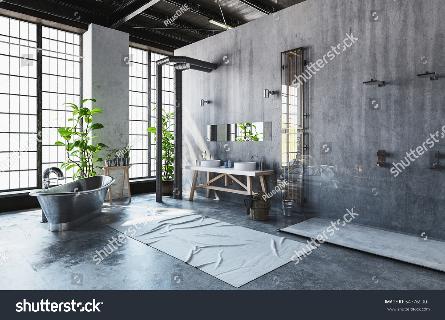 Modern Industrial Loft Conversion Into Hipster Stock
