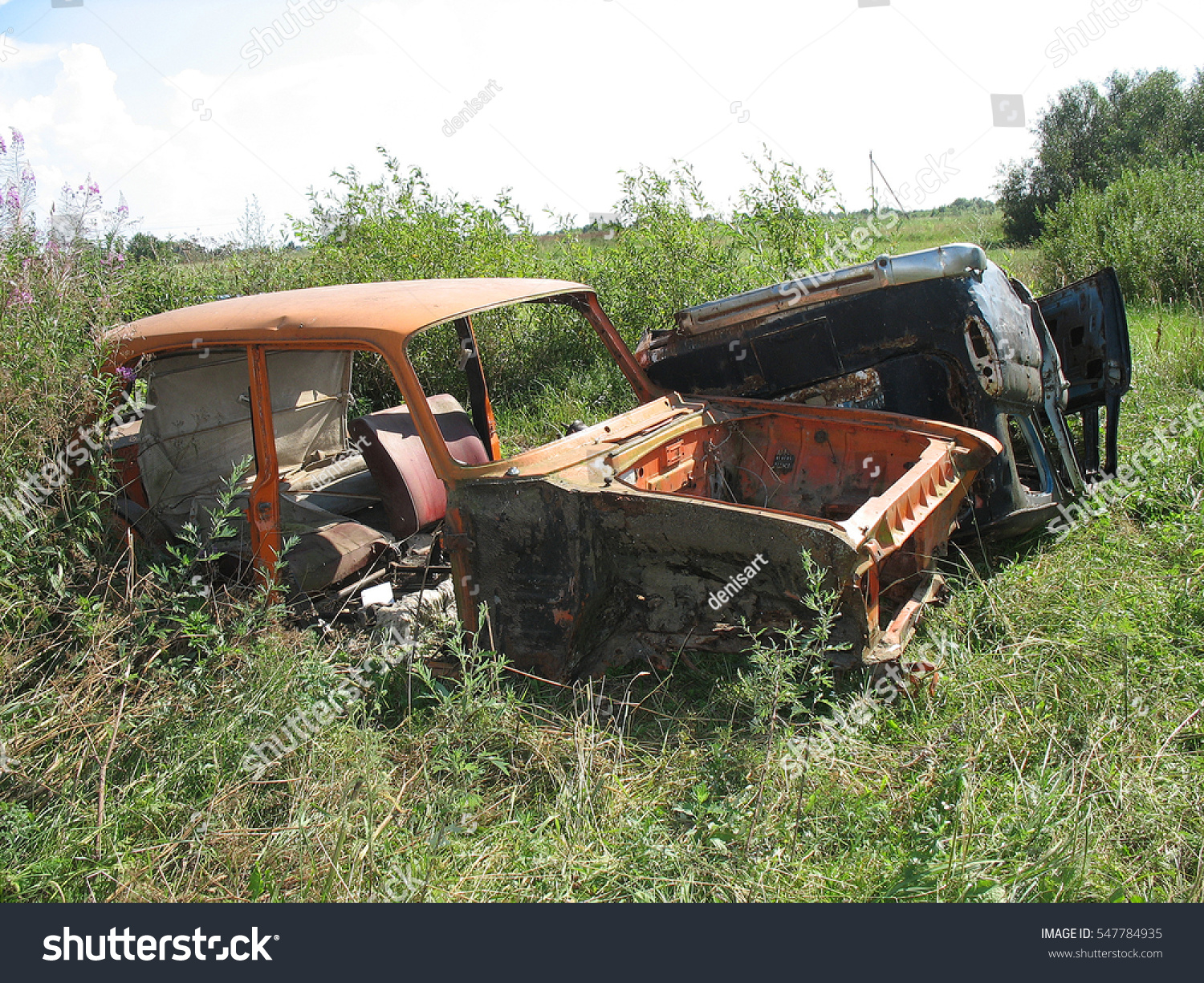 Old Rusted Weathered Scrap Cars Stock Photo (100% Legal Protection ...