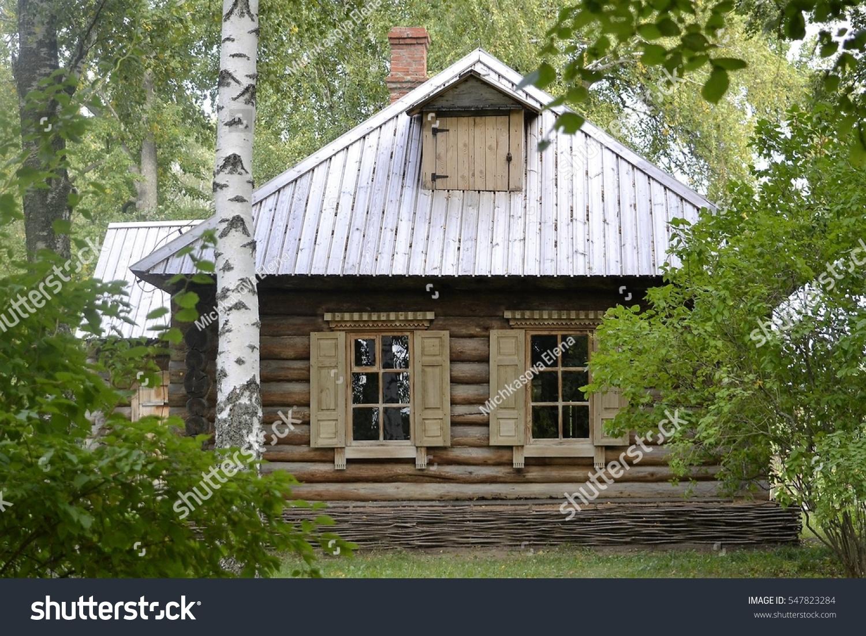 Village House Windows Shutters Made Wood Stock Shutterstock