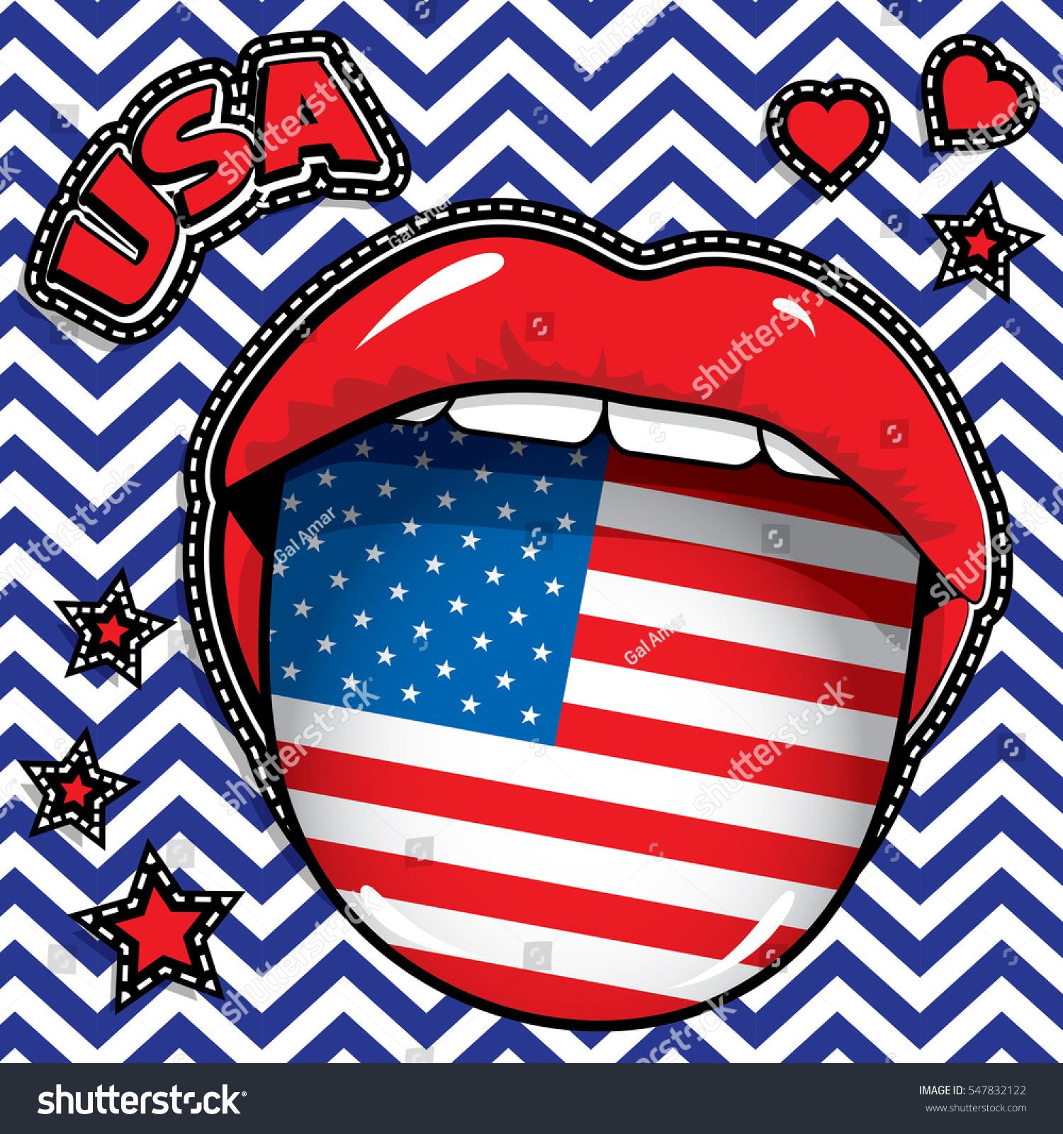 Happy Birthday Usa Pop Art y Stock Vector Shutterstock