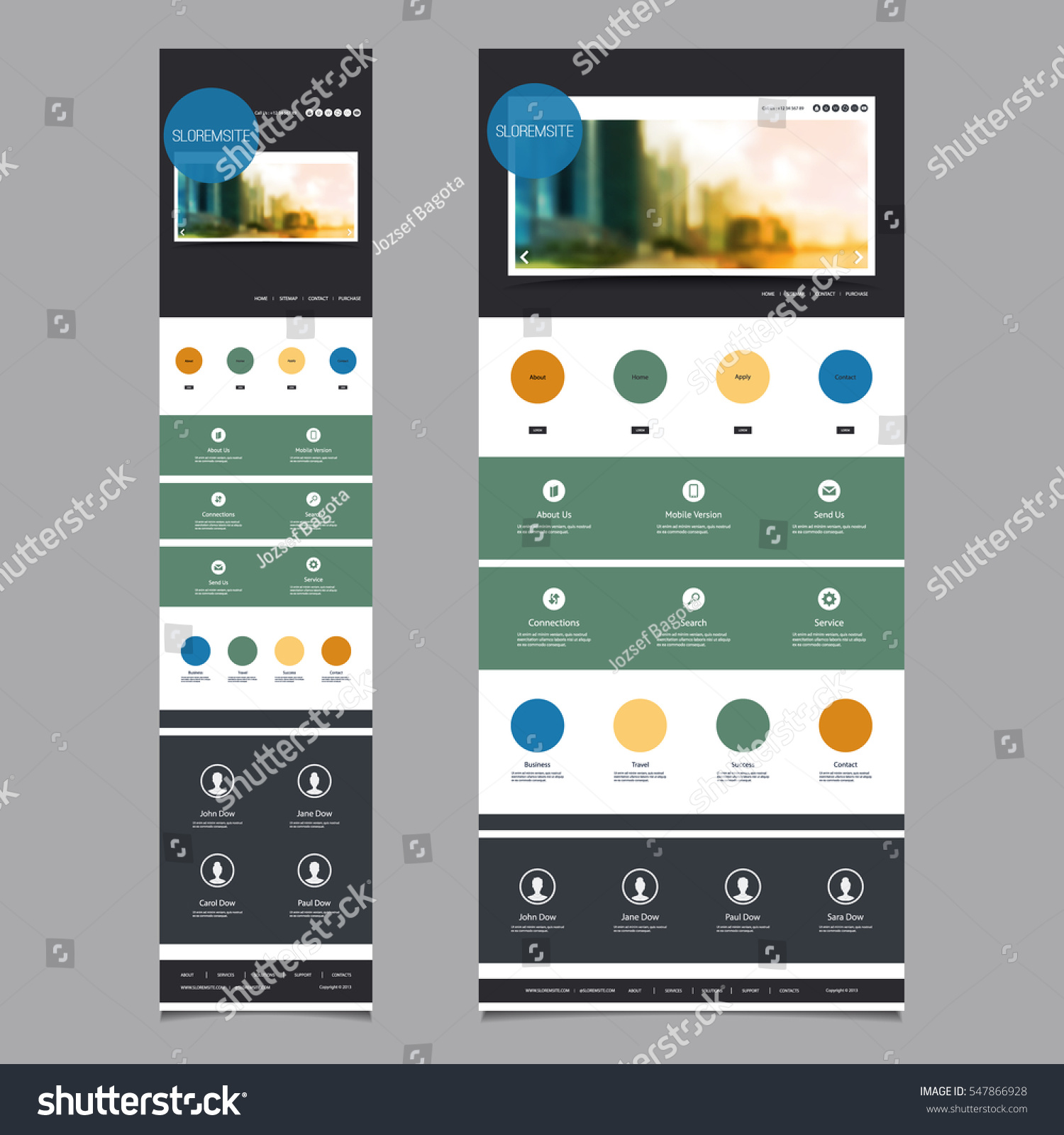 website templates with mobile version